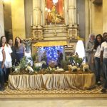 Presépio de Natal é montado na Igreja da Candelária